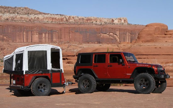 Jeep trailer camper
